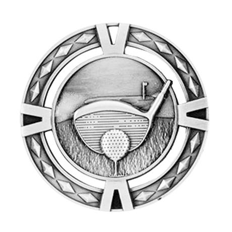 Medalj golf 60 mm
