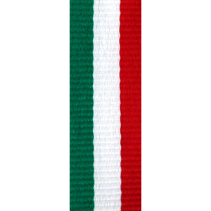 Band långt grön/vit/röd 22 mm