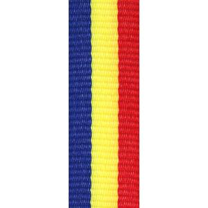 Band långt blå/gul/röd 22 mm