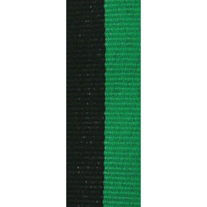 Band långt svart/grön 22 mm