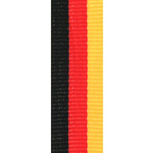 Band långt svart/röd/gul 22 mm