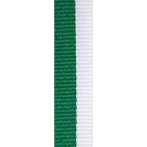Band smalt grön/vit 10 mm