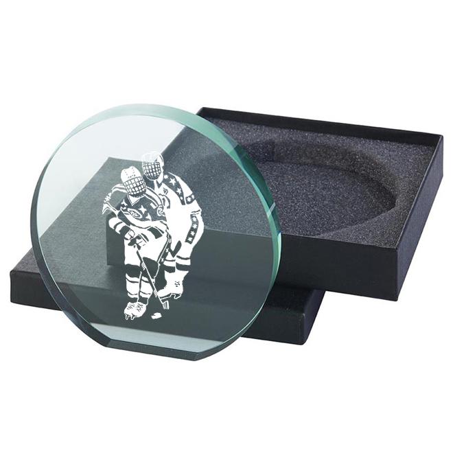 Glas Ishockeyspelare115x120mm