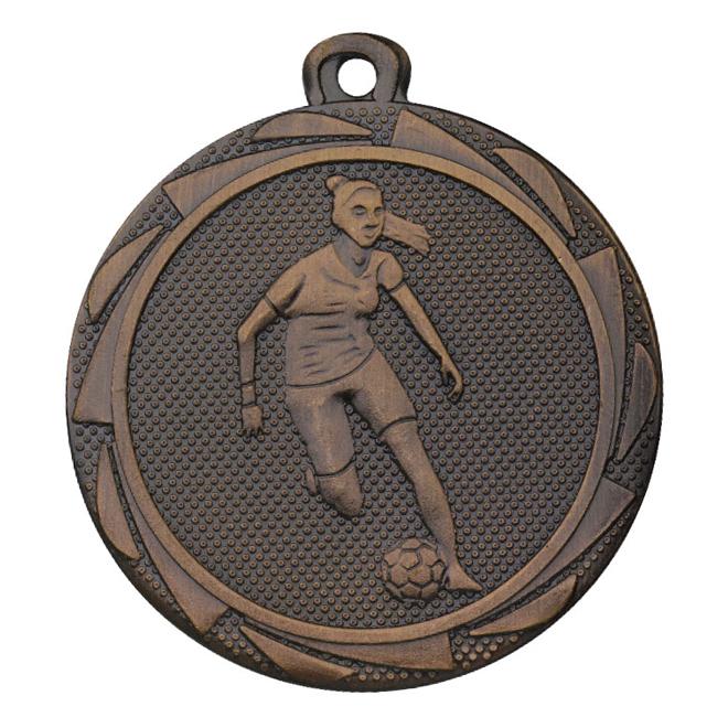 Medalj fotboll dam 45 mm