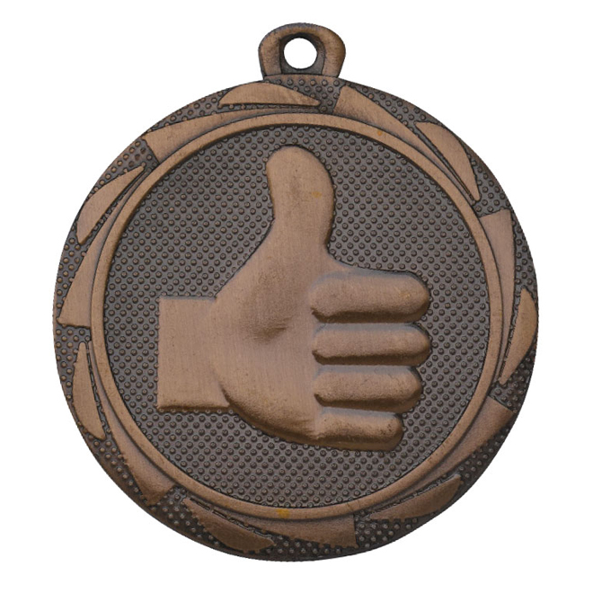 Medalj Tumme upp 45 mm