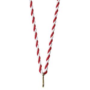 Medaljsnodd röd/vit 3 mm