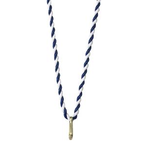 Medaljsnodd blå/vit 3 mm