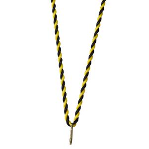 Medaljsnodd svart/gul 3 mm