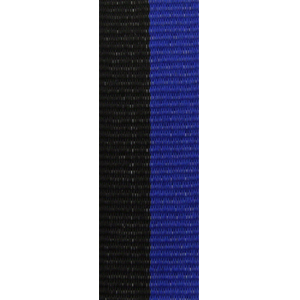 Band långt svart/blå 22 mm